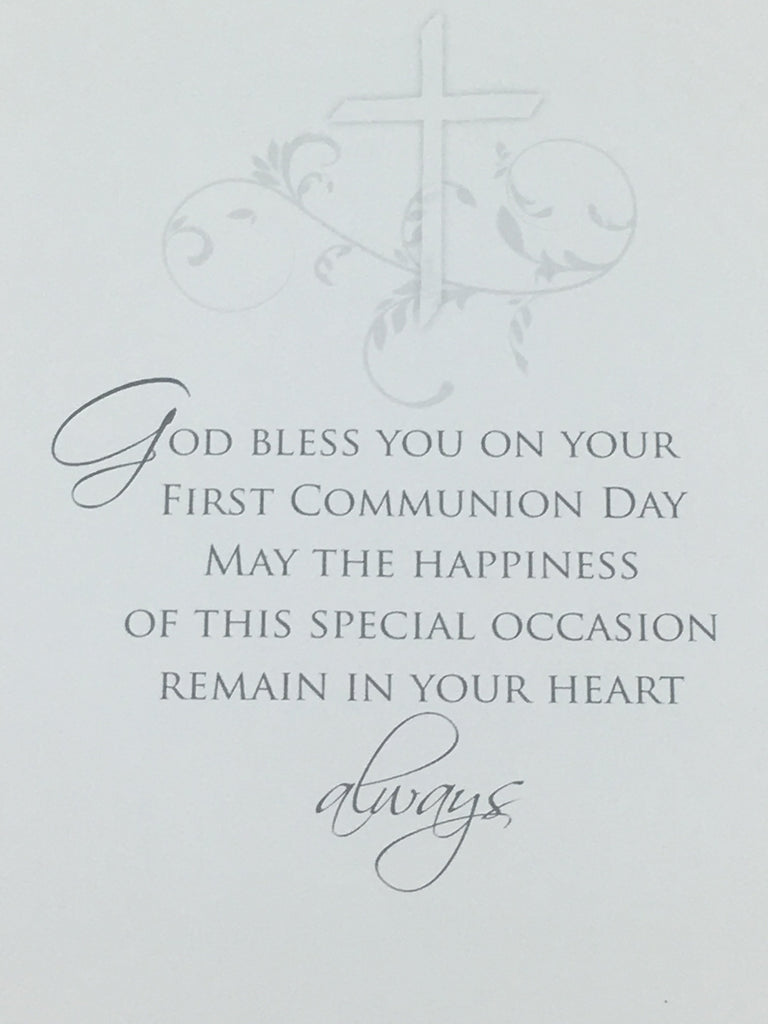 Boys deluxe first holy communion greeting card unique catholic gifts boys deluxe first holy communion greeting card m4hsunfo