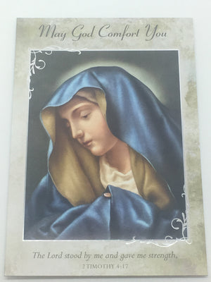 Catholic Sympathy Greeting Card - Unique Catholic Gifts