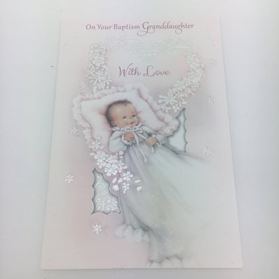 Granddaughter Baptism Greeting Card