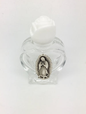 Our Lady of Guadalupe Glass Holy Water Bottle 2