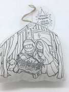"Color Your Own Ornament ""Holy Family"" (Stuffed Fabric)"