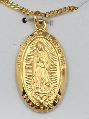 Gold over Silver Sterling Our Lady of Guadalupe (1