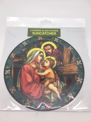 Catholic Stained Glass Sticker Suncatcher Holy Family