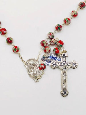 Red Cloisonne Rosary (7MM)