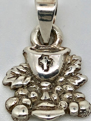 Chalice First Communion Pendant Handmade Sterling Silver(1/2