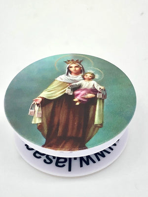Our Lady of Mt. Carmel Holy Sockets Pop Socket Cell Phone Accessory