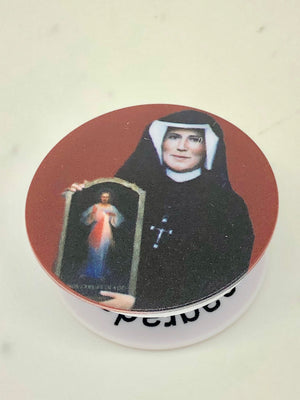 St. Faustina Holy Sockets Pop Socket Cell Phone Accessory