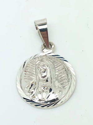 Our Lady of Guadalupe Sterling Silver Round Pendant Medal - Unique Catholic Gifts