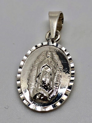 Our Lady of Guadalupe Sterling Silver Pendant Medal - Unique Catholic Gifts