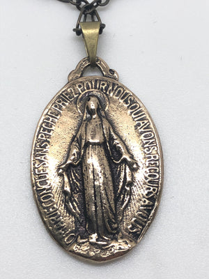 Bronze Miraculous Medal  ( 1 1/4