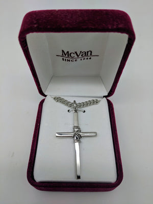 "Sterling Silver Cross (1 3/8"") on 24"" chain"