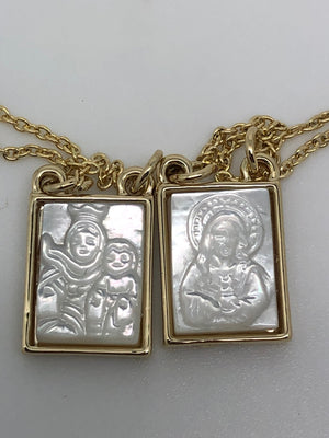 Gold and Mother of Pearl Scapular