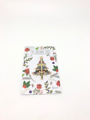 Christmas Tree Cross Pin - Unique Catholic Gifts