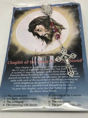 The Most Precious Blood of Jesus Chaplet Beads - Unique Catholic Gifts