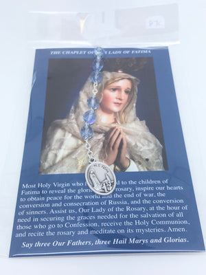 Our Lady of Fatima Chaplet Beads - Unique Catholic Gifts