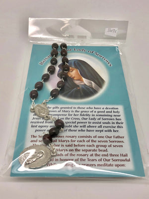 Our Lady of Sorrows Chaplet Beads - Unique Catholic Gifts