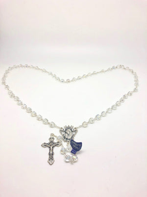 Clear Crystal Rosary (10mm)