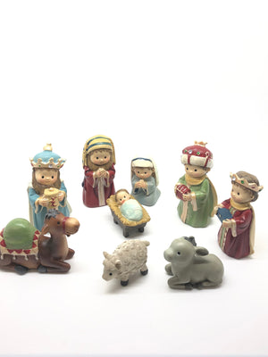 9 Piece Children's Christmas Nativity Set (4