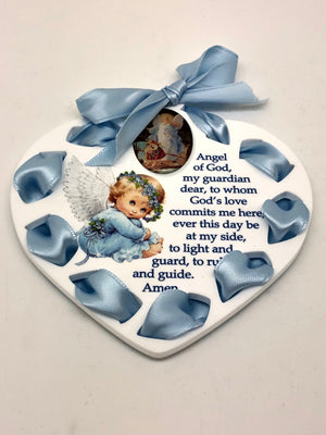 Baby Boy Crib Medallion (Blue) - Unique Catholic Gifts