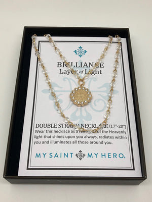 Gold Brilliance Layer of Light Double Strand Necklace - Unique Catholic Gifts