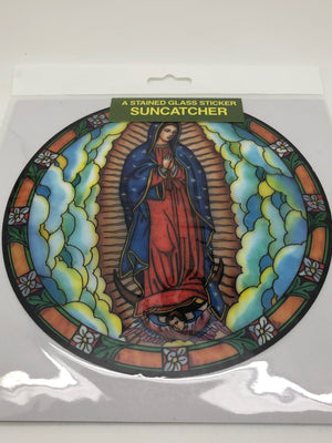 Our Lady of Guadalupe Catholic Stained Glass Sticker Suncatcher - Unique Catholic Gifts