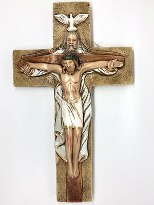 Holy Trinity Large Hand Painted Cross Crucifix (15