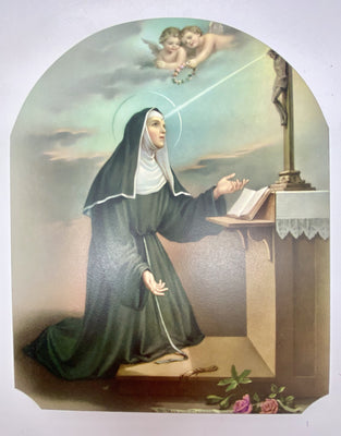 St. Rita Image on Wood( 7