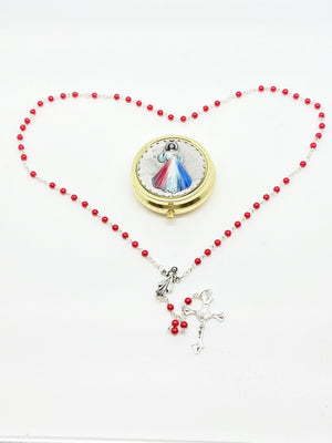Divine Mercy Rosary and Case - Unique Catholic Gifts