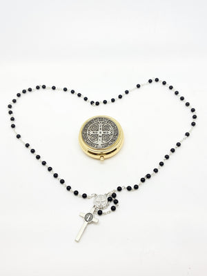 St. Benedict Rosary and Case - Unique Catholic Gifts