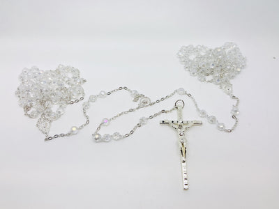Clear Crystal and Silver Lasso - Unique Catholic Gifts