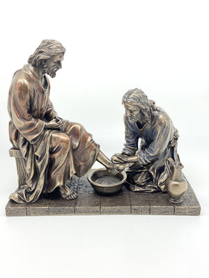 Jesus Washing His Disciple's Feet (8 1/2 x 7 1/4) - Unique Catholic Gifts