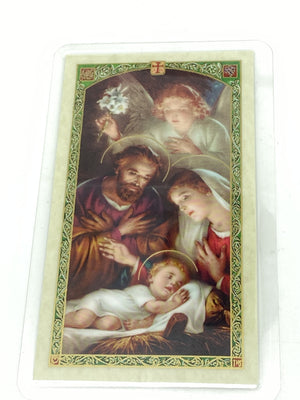 A Christmas Blessing Holy Card (Plastic Covered) - Unique Catholic Gifts