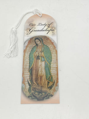 Our Lady of Guadalupe Bookmark with Tassels - Unique Catholic Gifts