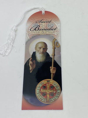 St. Benedict Bookmark with Tassels