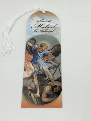 St. Michael Bookmark with Tassels - Unique Catholic Gifts