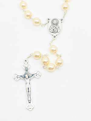 Cream Rosary from the Holy Land (7 mm)