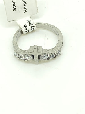 Lady's Cross and Diamonds Ring