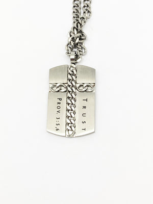 Silver Chain Cross,