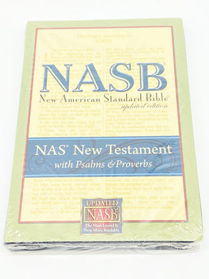 NASB New Testament with Psalms and Proverbs: NASB Update Black, Bonded Leather by Lockman Foundation Staff - Unique Catholic Gifts