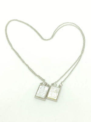 Silver and Mother of Pearl Scapular - Unique Catholic Gifts