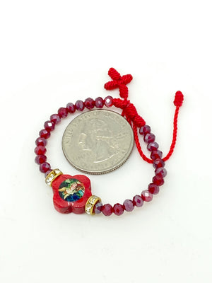 Red Guardian Angel Baby Bracelet - Unique Catholic Gifts