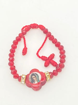 Red Our Lady of Guadalupe Baby Bracelet - Unique Catholic Gifts