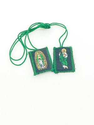 Our of Guadalupe y St. Jude  Escapulario Brown Scapular Wool - Unique Catholic Gifts