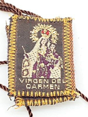 Brown Scapular with Our Lady of Mt. Carmel - Unique Catholic Gifts