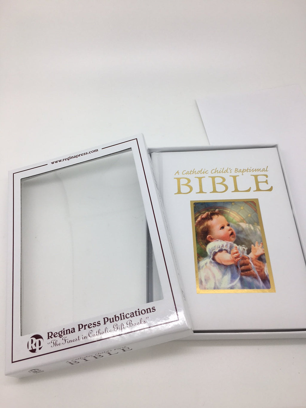 A Catholic Child's Baptismal Bible (child on front)