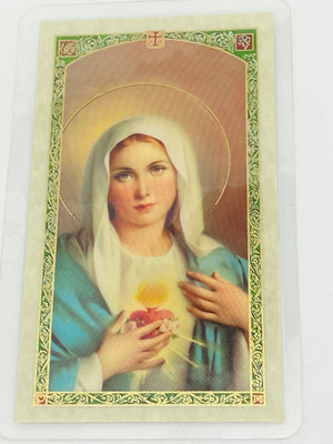 Consecration to Mary Laminated Holy Card (Plastic Covered) - Unique Catholic Gifts
