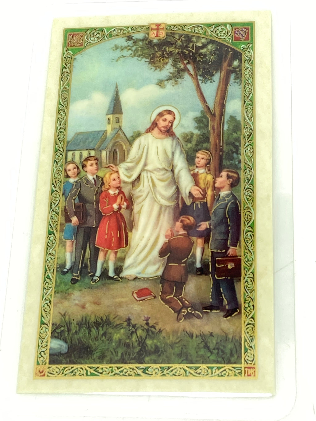 Student Prayer Laminated Holy Card (Plastic Covered) - Unique Catholic Gifts