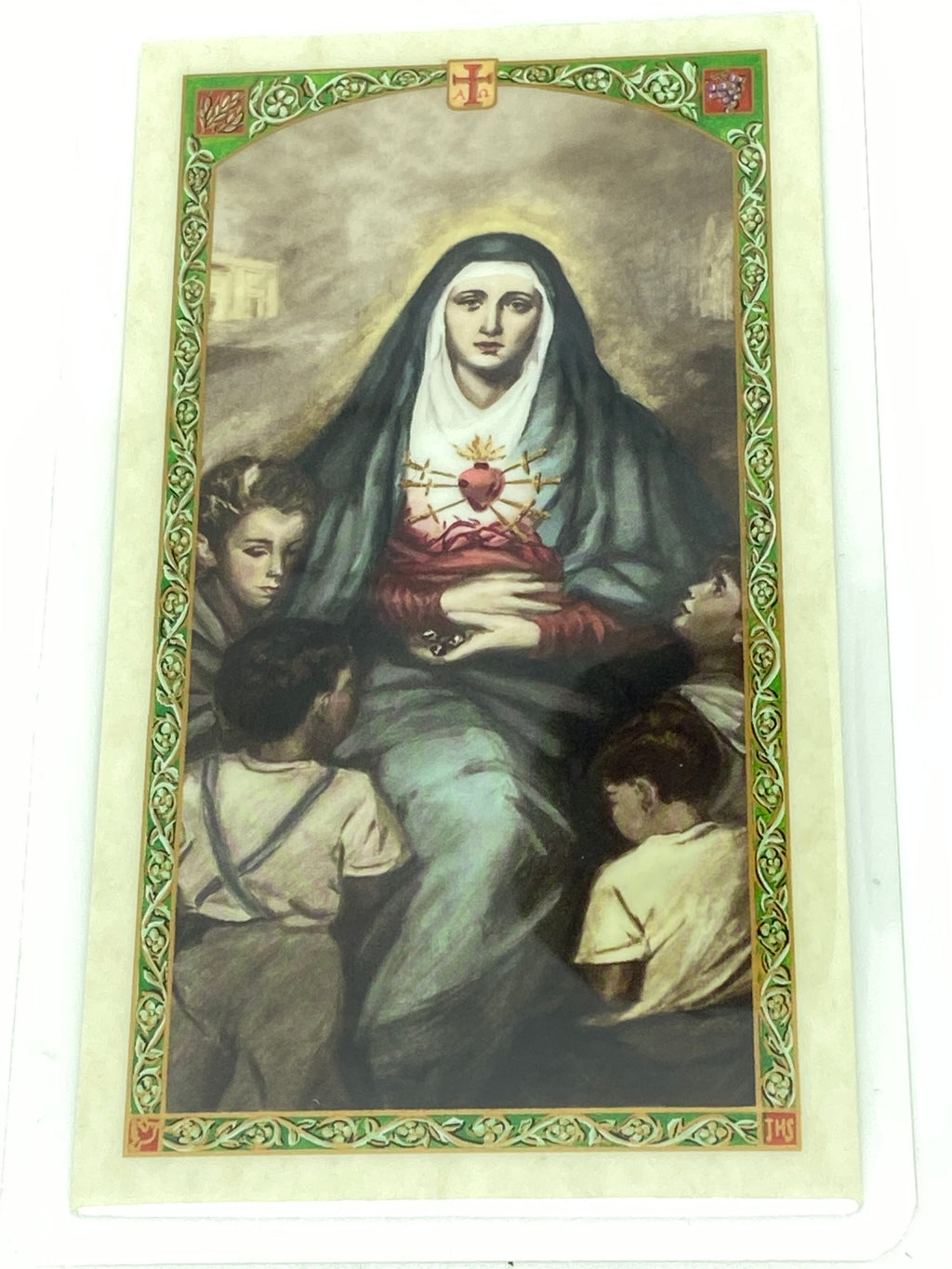 Our Lady of the Seven Sorrows Laminated Holy Card (Plastic Covered) - Unique Catholic Gifts