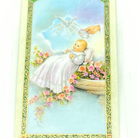 God sent You a Baby Girl Laminated Holy Card (Plastic Covered) - Unique Catholic Gifts