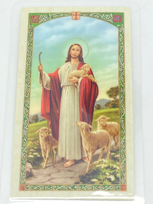 Footprints Laminated Holy Card (Plastic Covered) - Unique Catholic Gifts